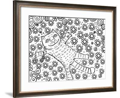 Happy Summer Line Art-Oxana Zaika-Framed Giclee Print