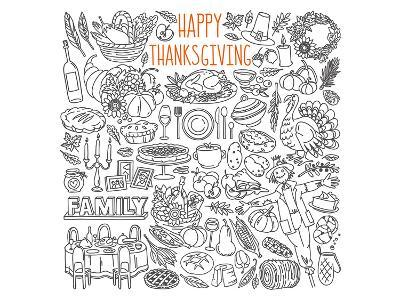 Happy Thanksgiving Coloring Art--Coloring Poster