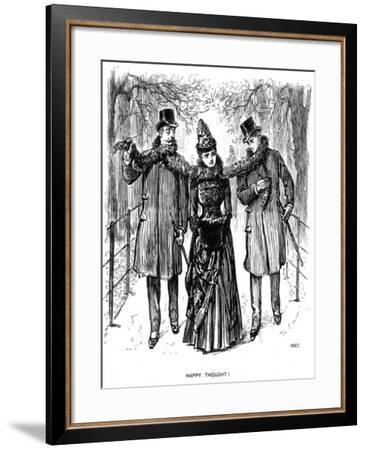 Happy Thought!, 1887-George Du Maurier-Framed Giclee Print