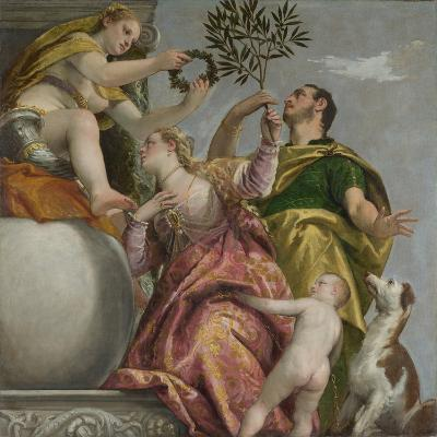 Happy Union (From: Four Allegories of Lov), Ca. 1575-Paolo Veronese-Giclee Print