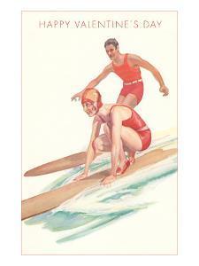 Happy Valentine's Day, Surfing Couple