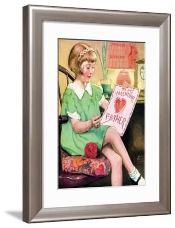 Happy Valentine's Father--Framed Art Print
