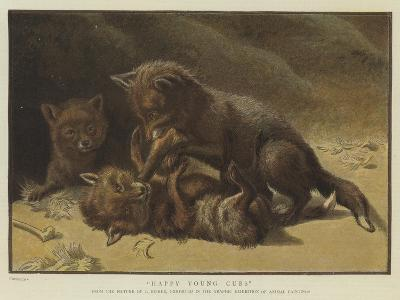 Happy Young Cubs--Giclee Print