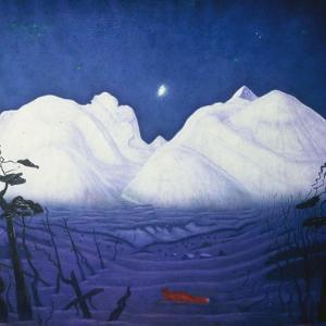 A Winter Night in the Mountains by Harald Oscar Sohlberg