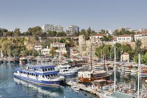Asia, Turkey, Antalya, Harbour, Ships by Harald Schšn