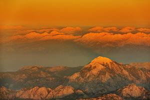 Asia, Turkey, Antalya, Mountains, Snowcapped Peaks, Dusk by Harald Schšn
