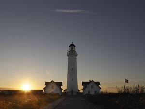 Denmark, Jutland, Hirtshals, Lighthouse, Evening Mood by Harald Schšn