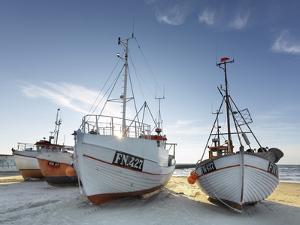 Denmark, Jutland, Lškken, Beach, Boats, Ships by Harald Schšn