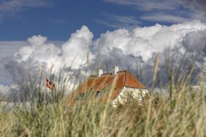 Denmark, Jutland, Lškken, House, Flag, Cloud by Harald Schšn