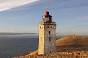 Denmark, Jutland, Rubjerg Knude, Dune, Lighthouse, Sea by Harald Schšn