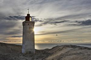 Denmark, Jutland, Rubjerg Knude, Dune, Sea, Lighthouse, Evening Mood by Harald Schšn