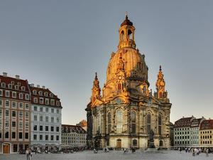 Germany, Saxony, Dresden, Marktplatz, Church of Our Lady by Harald Schšn