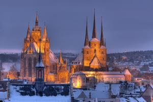 Germany, Thuringia, Erfurt, Domplatz, Severichurch by Harald Schšn