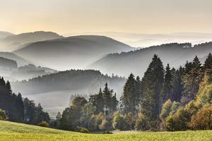 Germany, Thuringia, Near Lichtentanne, Mountains, Valleys by Harald Schšn