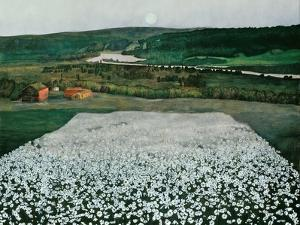 Flower Meadow in the North by Harald Sohlberg