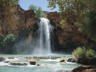 Harasu Falls, Grand Canyon, Arizona, USA-Anthony Waltham-Photographic Print
