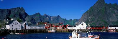Harbor and Boats Hamnoey Lofoten Norway--Photographic Print