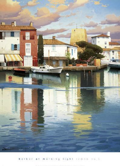 Harbor at Morning Light-Ramon Pujol-Art Print
