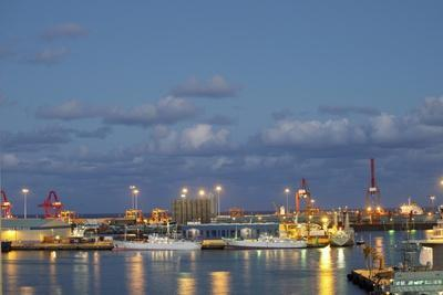 Harbor at Night, Las Palmas, Gran Canaria, Spain-Guido Cozzi-Photographic Print