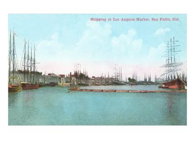 Harbor at San Pedro, California--Art Print