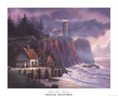 Harbor Light Hideaway-Michael Humphries-Art Print