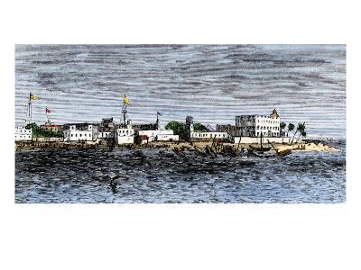 Harbor of Zanzibar, Circa 1880--Giclee Print