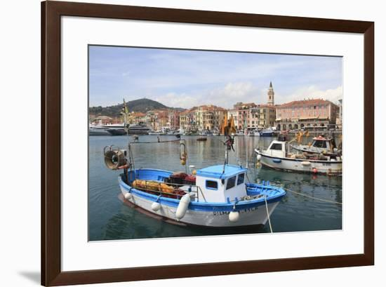 Harbor, Oneglia, Imperia, Liguria, Italian Riviera, Italy, Europe-Wendy Connett-Framed Photographic Print