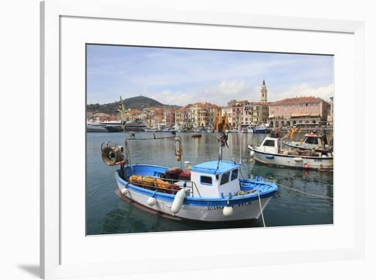 Harbor, Oneglia, Imperia, Liguria, Italian Riviera, Italy, Europe-Wendy Connett-Framed Photographic Print