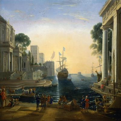 Harbour' after Claude Lorraine, C1820-Clause Lorraine-Giclee Print