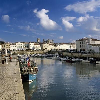 Harbour and Abbey, St. Martin, Ile de Re, Poitou-Charentes, France, Europe-Stuart Black-Photographic Print