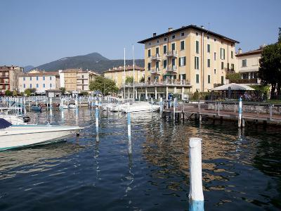 Harbour and Boats, Iseo, Lake Iseo, Lombardy, Italian Lakes, Italy, Europe-Frank Fell-Photographic Print
