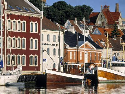 Harbour and Gamle Stavanger, Norway-Doug Pearson-Photographic Print