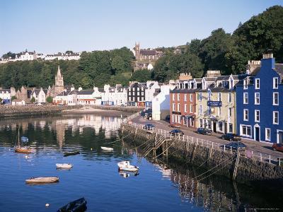 Harbour and Main Street, Tobermory, Island of Mull, Argyllshire, Inner Hebrides, Scotland-Geoff Renner-Photographic Print