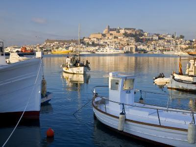 Harbour and Old Town, Eivissa or Ibiza Town, Ibiza, Balearic Islands, Spain-Peter Adams-Photographic Print