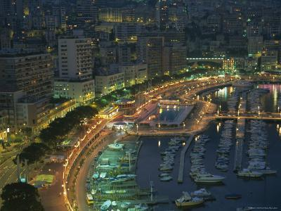 Harbour and Yachts and Twilight, Monte Carlo, Monaco, Mediterranean Coast, Europe-Gavin Hellier-Photographic Print