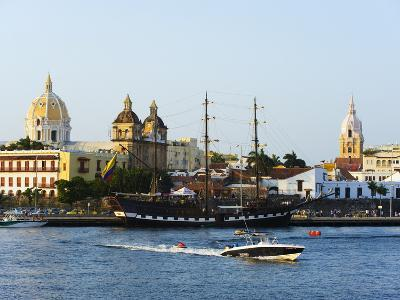 Harbour Area, Old Town, UNESCO World Heritage Site, Cartagena, Colombia, South America-Christian Kober-Photographic Print