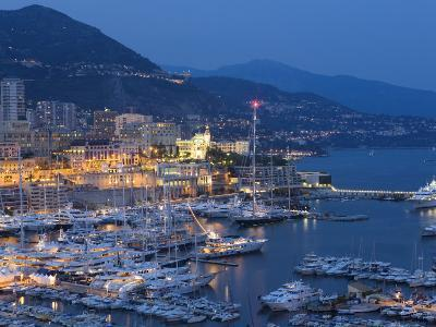 Harbour at Dusk, Monte Carlo, Monaco-Peter Adams-Photographic Print