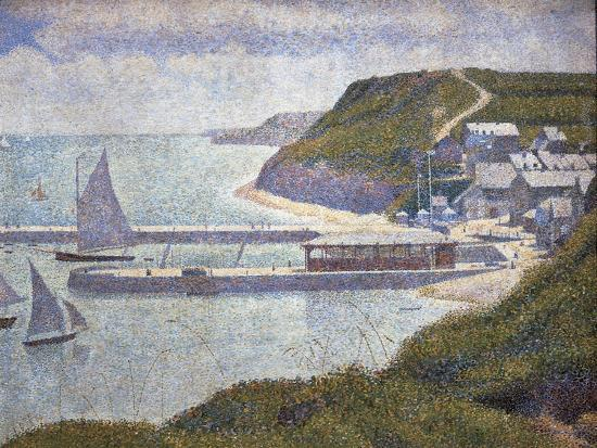 Harbour at Port-En-Bessin at High Tide-Georges Seurat-Art Print