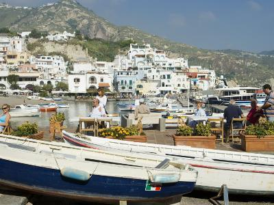 Harbour at San Angelo, Ischia, Campania, Italy-Greg Elms-Photographic Print