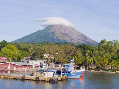 Harbour Below Volcan Concepcion, 1610M, Ometepe Island, Lake Nicaragua, Nicaragua, Central America-Christian Kober-Photographic Print