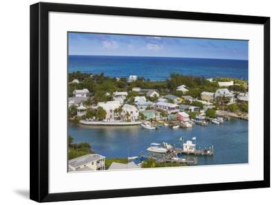 Harbour, Hope Town, Elbow Cay, Abaco Islands, Bahamas, West Indies, Central America-Jane Sweeney-Framed Photographic Print
