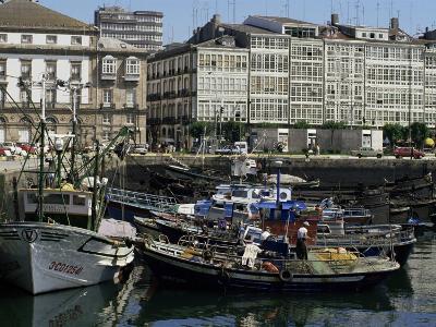 Harbour, La Coruna, Galicia, Spain-Michael Busselle-Photographic Print