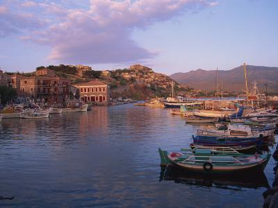 Harbour, Molyvos, Lesbos, Greek Islands, Greece, Europe-Lightfoot Jeremy-Photographic Print