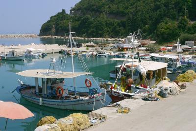 Harbour of Poros, Kefalonia, Greece-Peter Thompson-Photographic Print