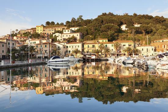 Harbour of Porto Azzurro, Island of Elba, Livorno Province, Tuscany, Italy-Markus Lange-Photographic Print