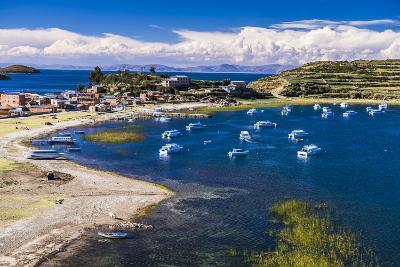 Harbour on Lake Titicaca at Challapampa Village on Isla Del Sol (Island of the Sun), Bolivia-Matthew Williams-Ellis-Photographic Print