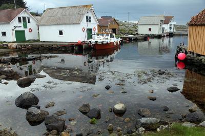 Harbour, Rott Island, Off Stavanger, Norway, Scandinavia, Europe-David Lomax-Photographic Print