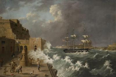 Harbour Scene, Malta-Anton Schranz-Giclee Print