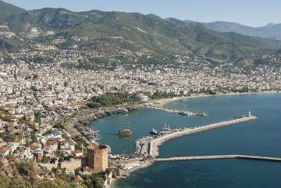 Harbour Seen from Kale Fortress, Alanya, Southern Turkey, Anatolia, Turkey, Asia Minor, Eurasia-Tony Waltham-Photographic Print
