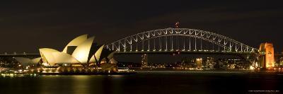 Harbour Sydney, Opera and Harbour Bridge in Sydney, New South Wales, Sydney, Australia-Thorsten Milse-Photographic Print